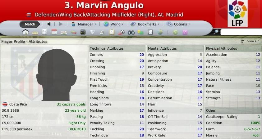 Wonderkids que não se afirmaram - Marvin Angulo no FM 08