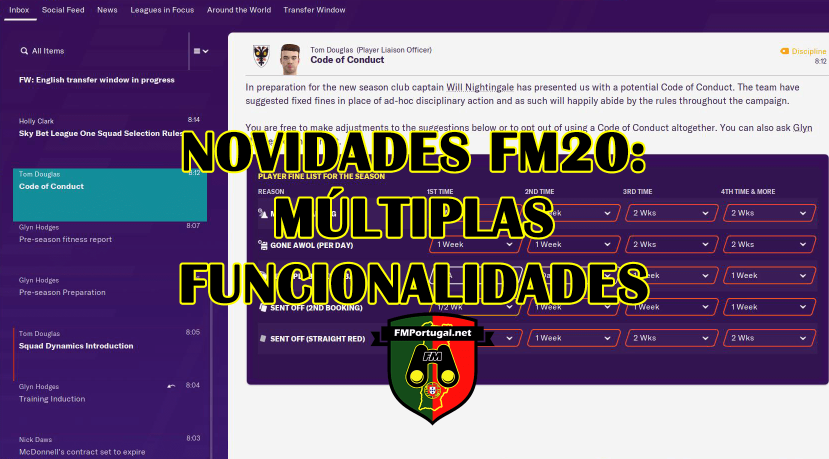 Novidades FM20: Funcionalidades anunciadas no Twitter