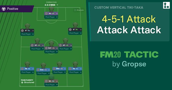 [FM20] Táctica 4-5-1 Attack Attack Attack