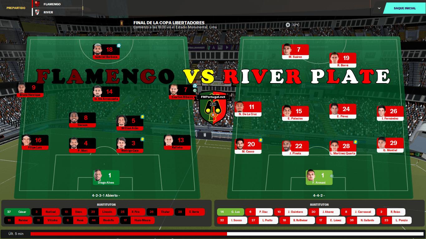 River vs Flamengo – A Simulação