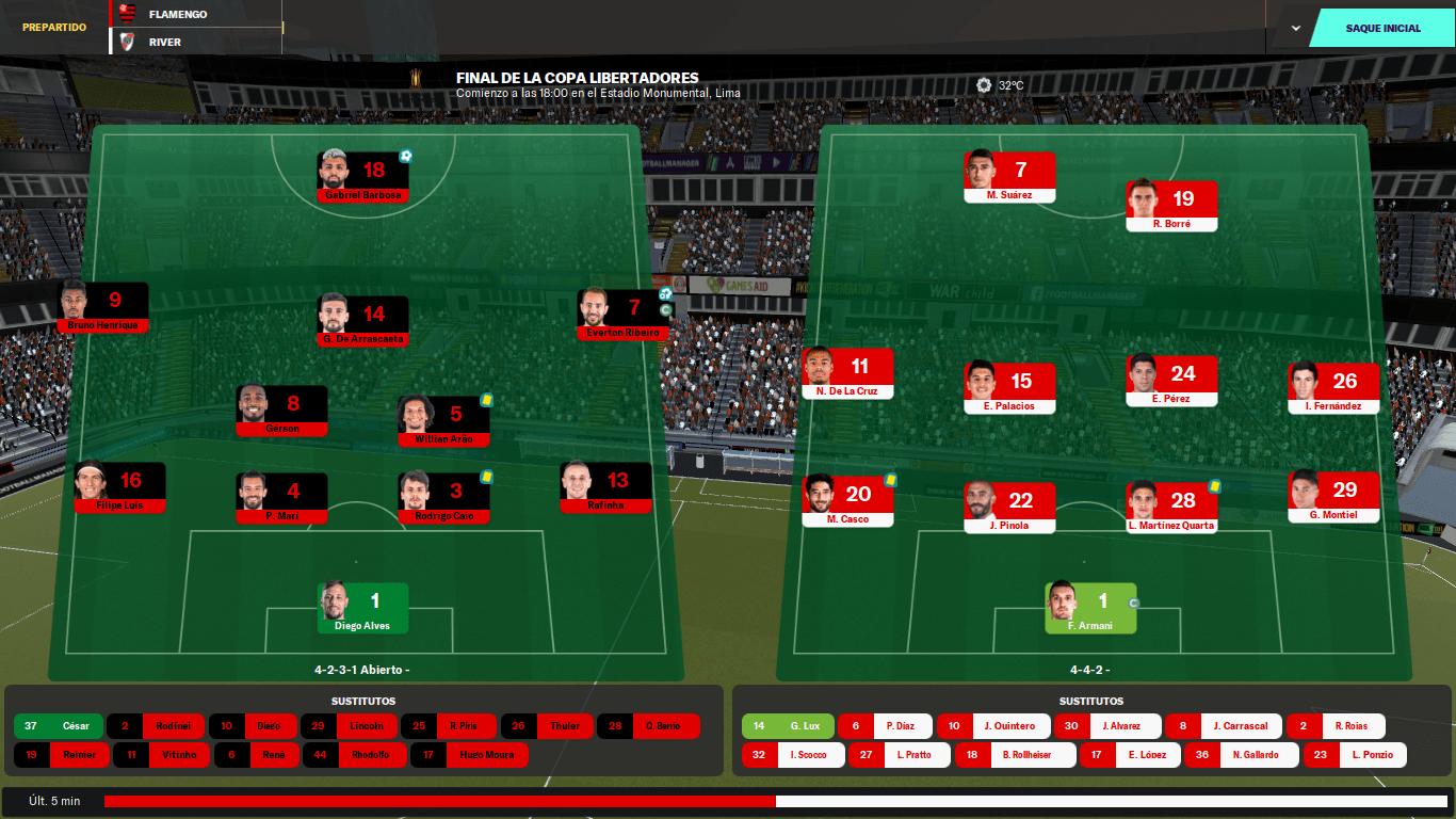 River vs Flamengo A Simulação