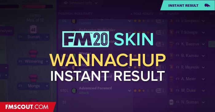 [FM20] Skin com resultados instantâneos