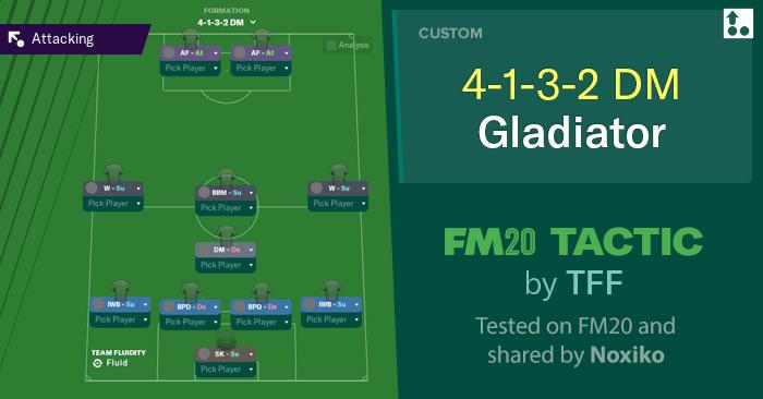[FM20] Táctica 4-1-3-2 DM Gladiator