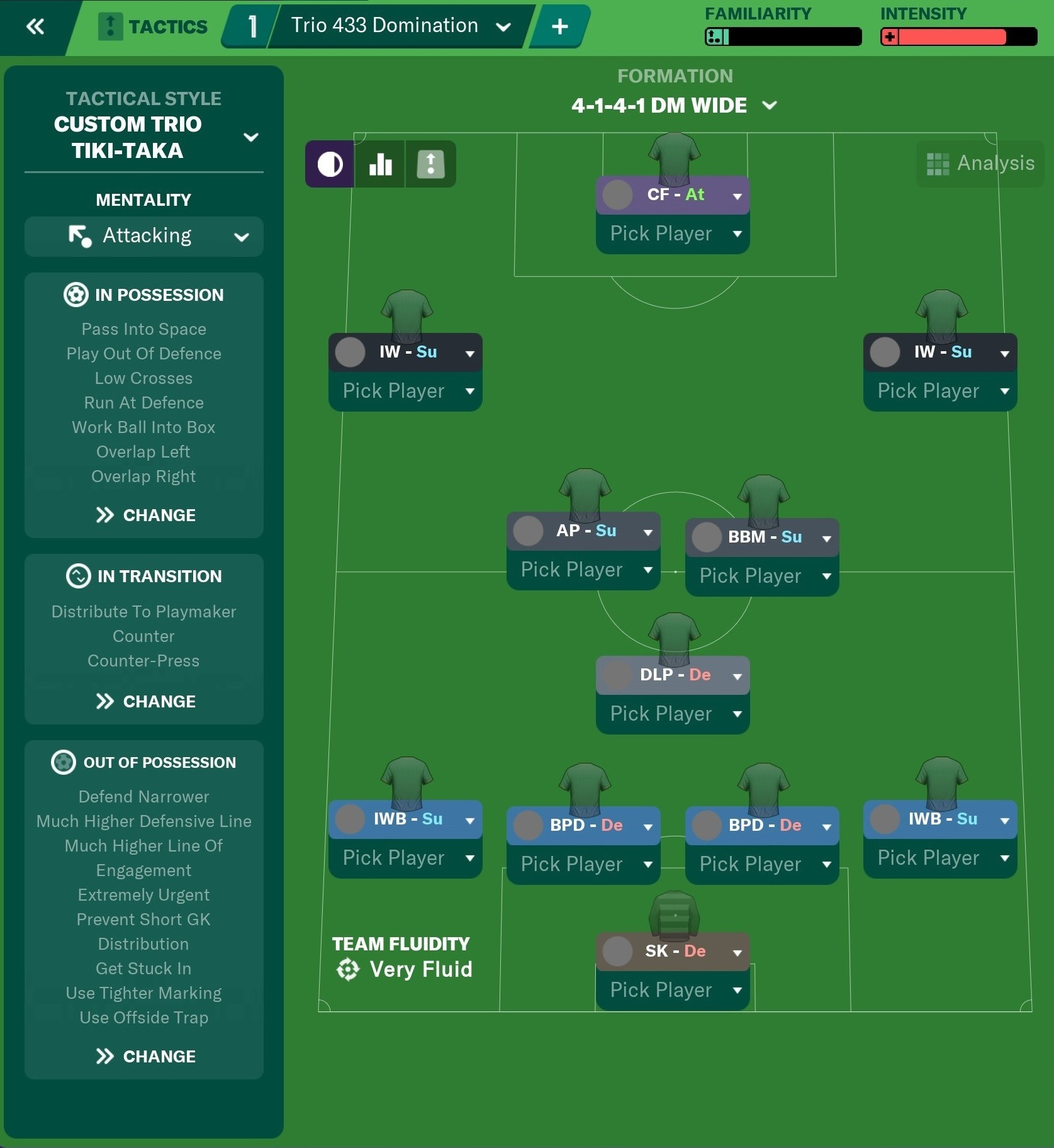 [FM20] Táctica 4-3-3 Trio's Domination