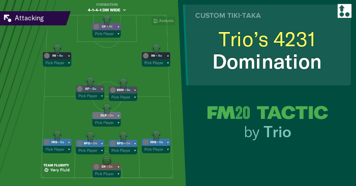[FM20] Táctica 4-3-3 Trio's Domination