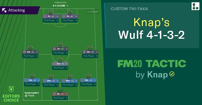 [FM20] Táctica 4-1-3-2 Knap's WULF