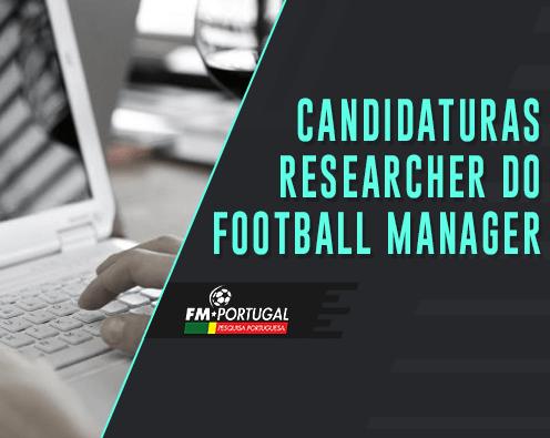 CANDIDATURA PARA RESEARCHER DO FOOTBALL MANAGER